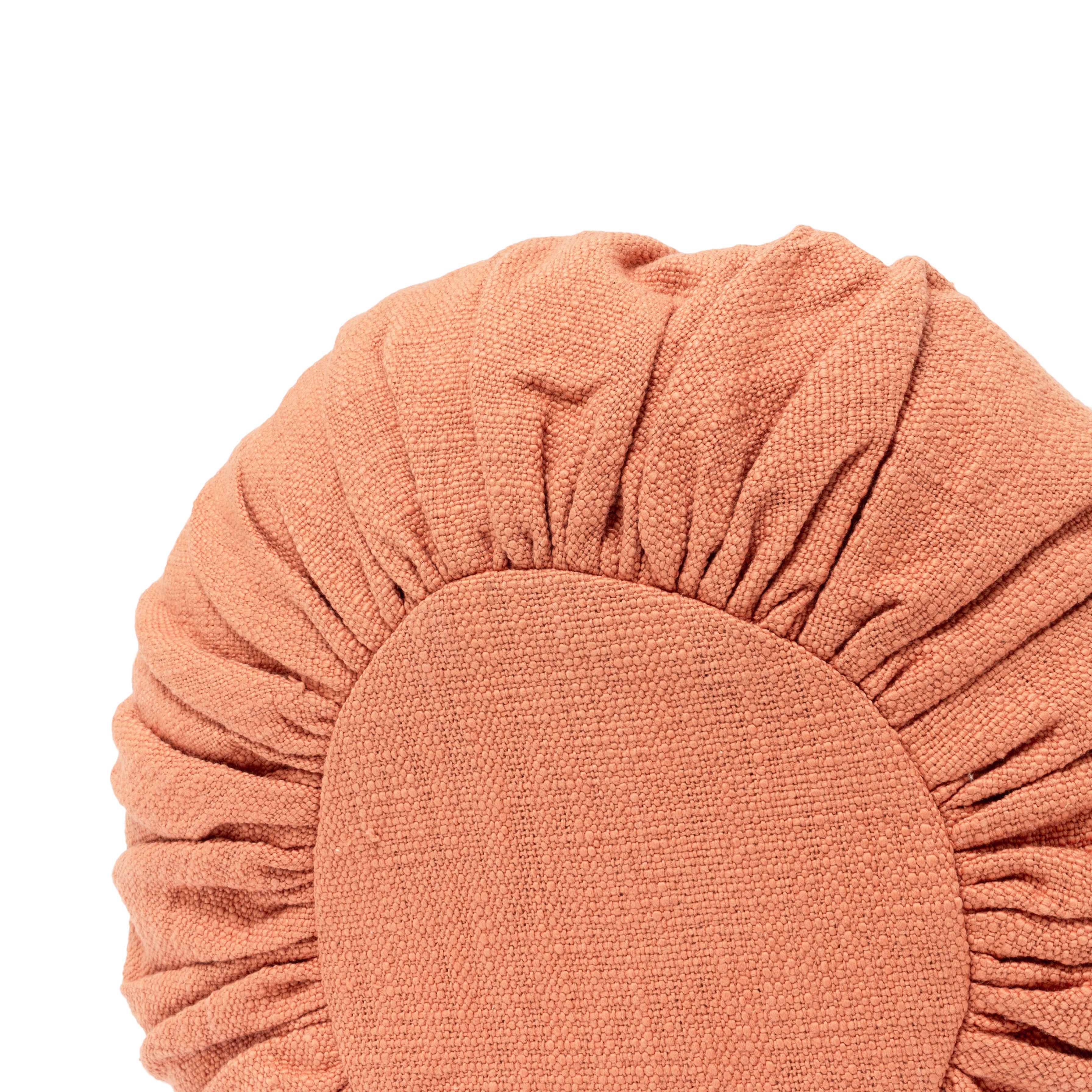Rust Round Pillows