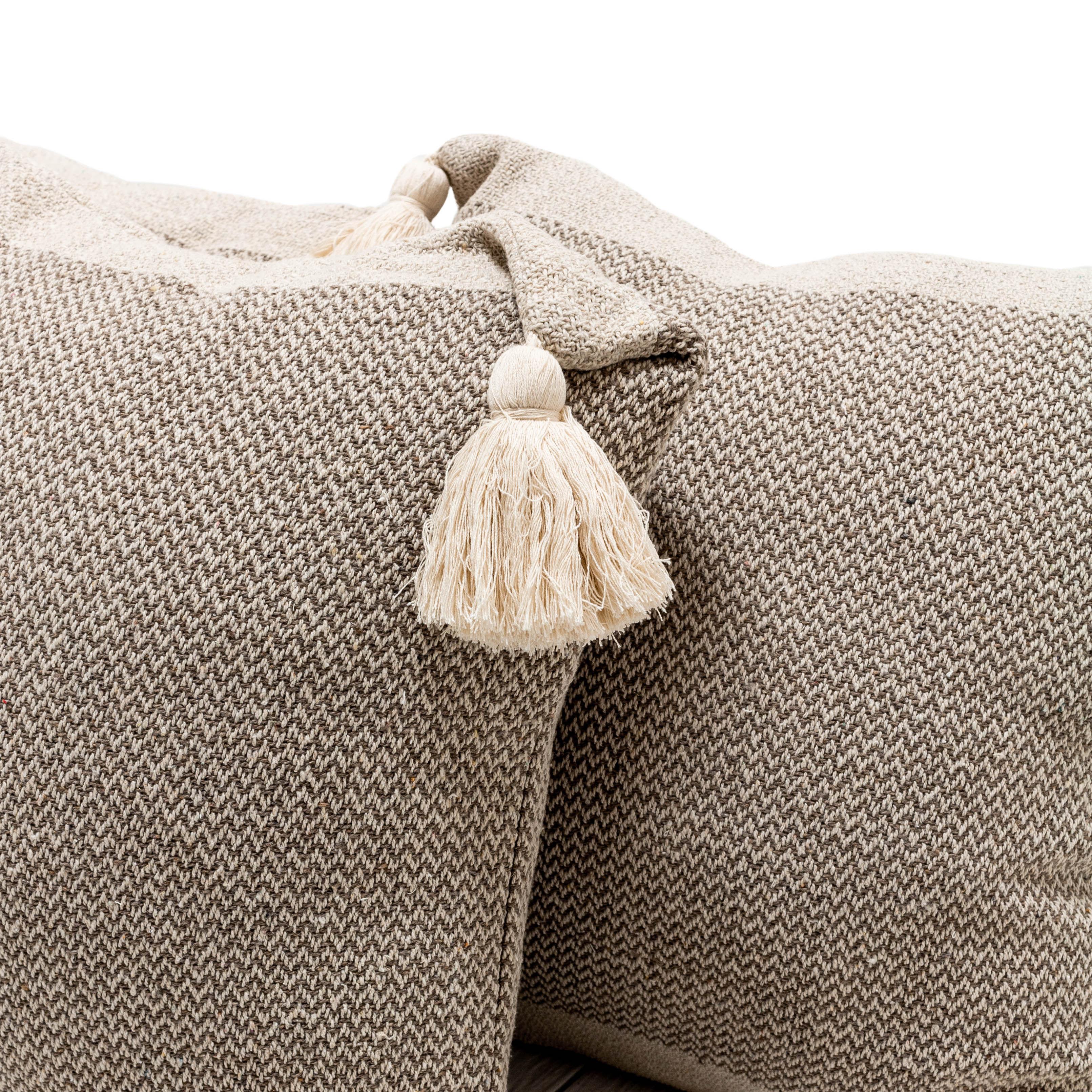 Brown Tassel Pillows