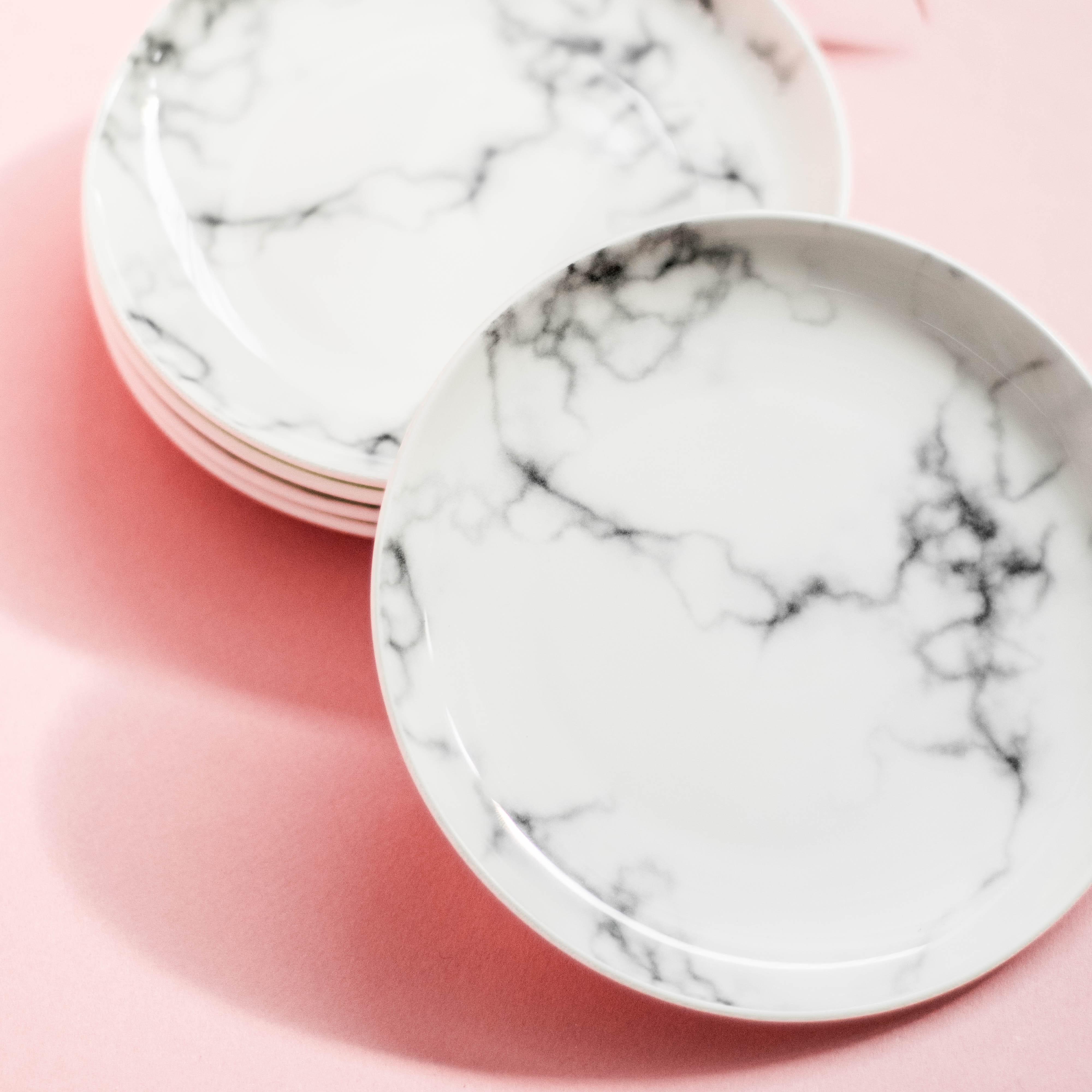 Marble Dessert Plates