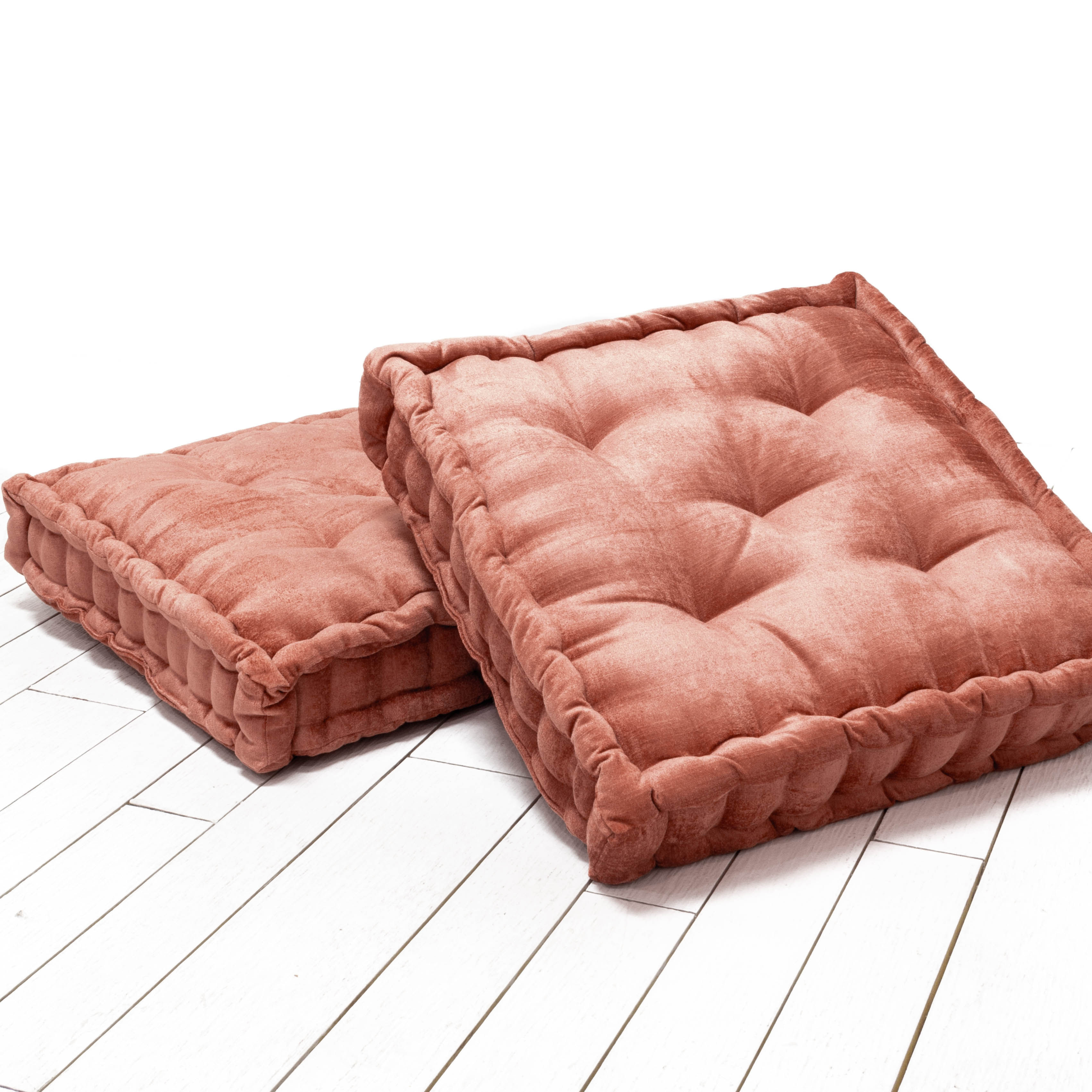 Hailey Floor Cushions - Pink