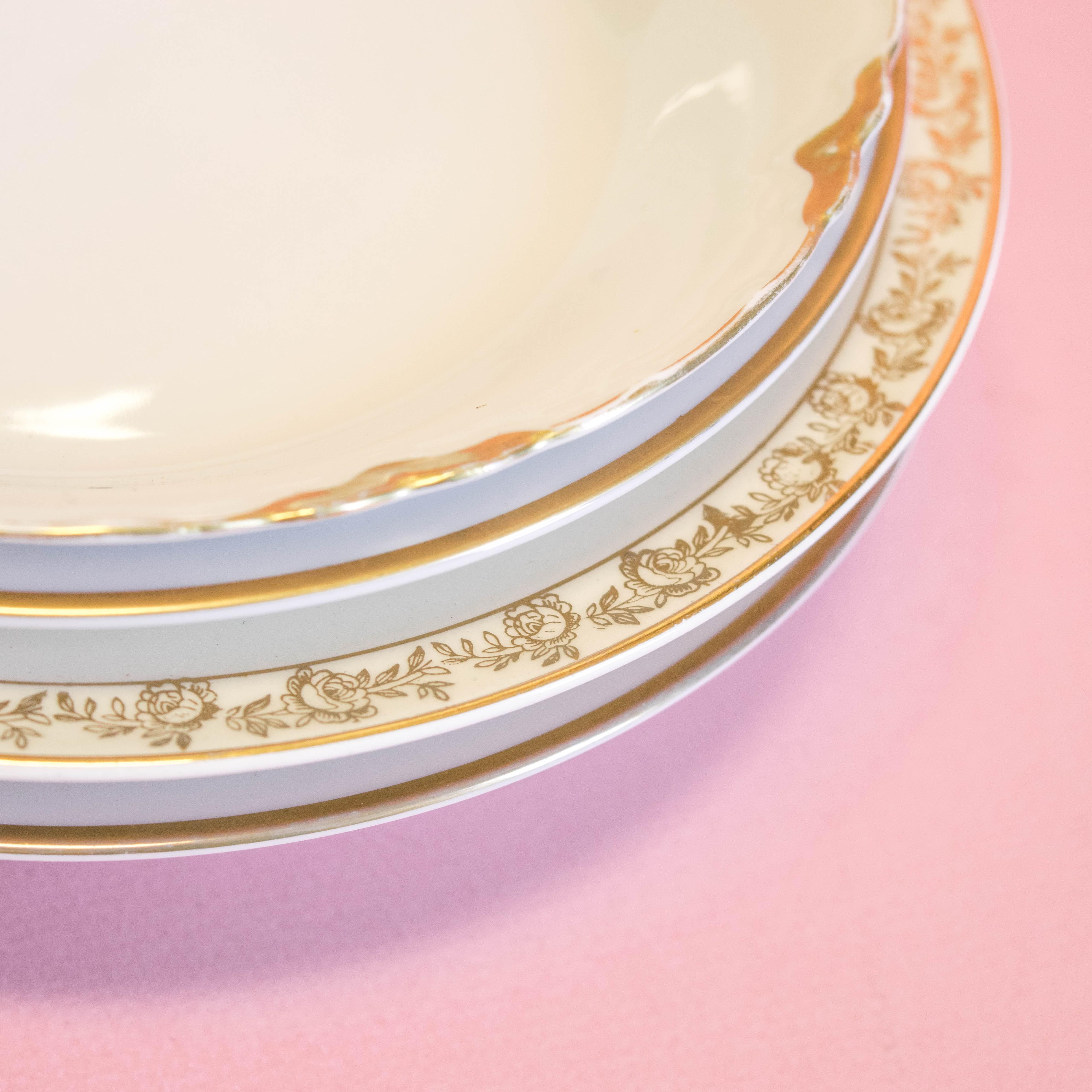 Gold Soup Bowls