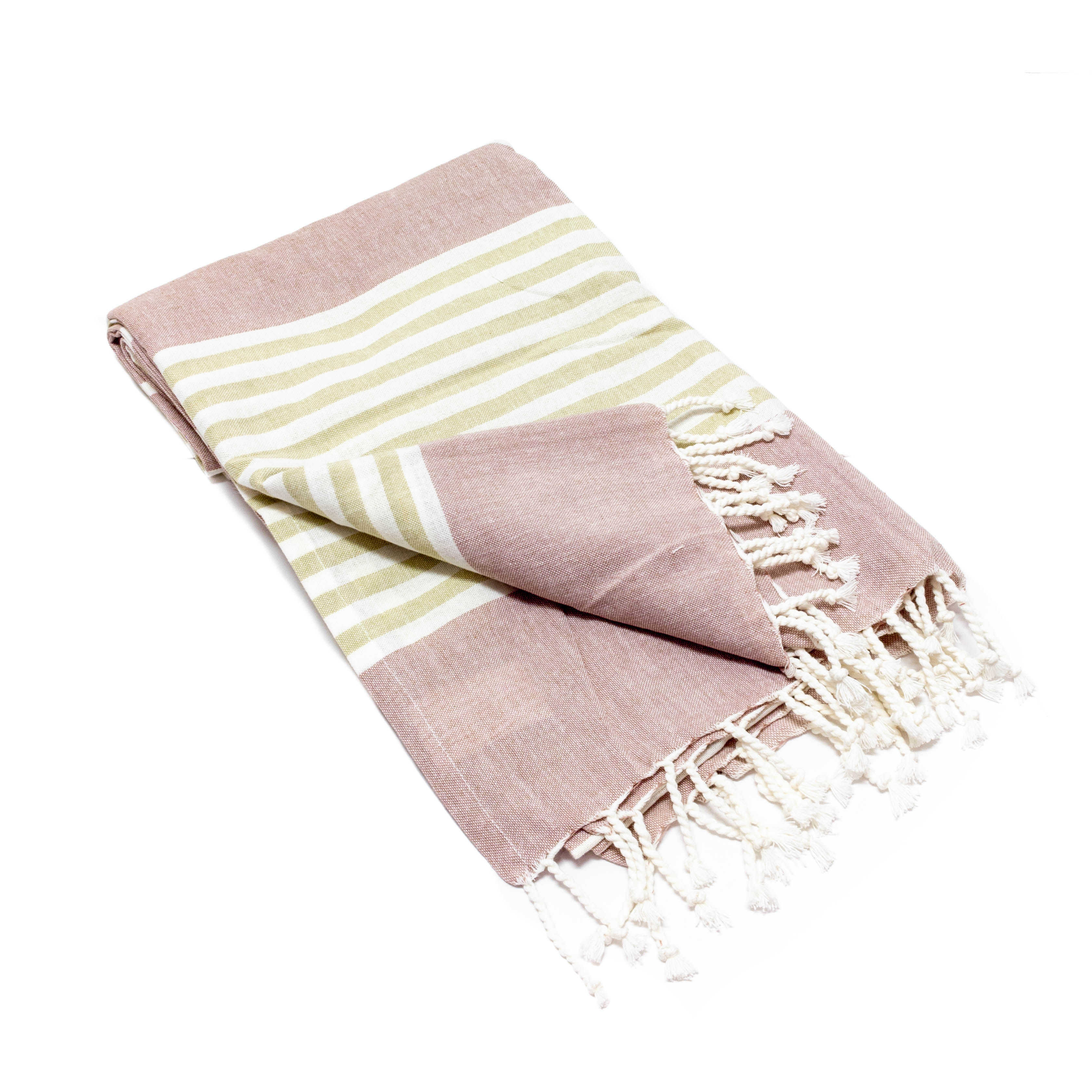 Mauve Striped Throws