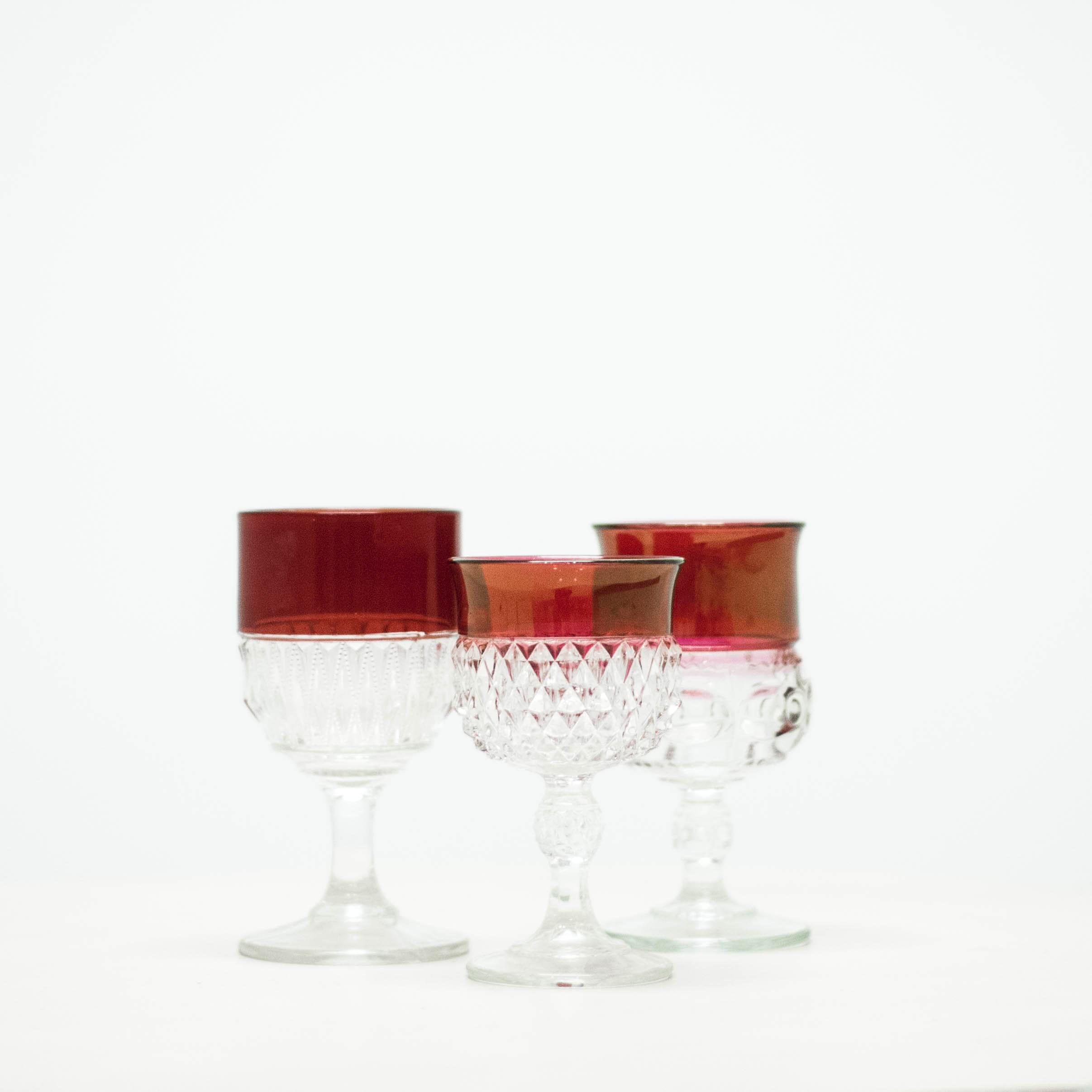Cranberry Goblets