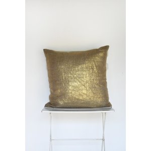 Gold Metallic Weave Pillow