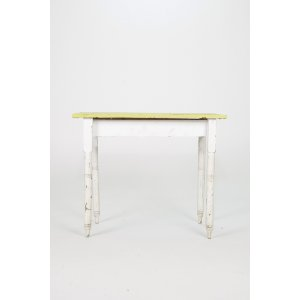 White Table with Green Top