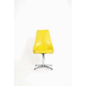 Yellow Mid-Century Swivel