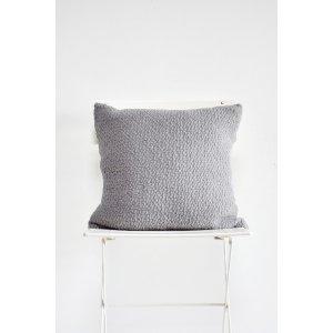 Grey Boucle Pillow