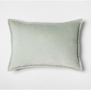 Sage Velvet Lumbar Pillow