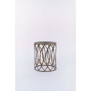 Geometric Brass Side Table