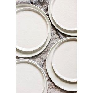 Organic Whiteware Dinner Plate