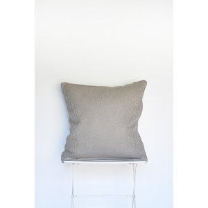 Grey Woven Pillow