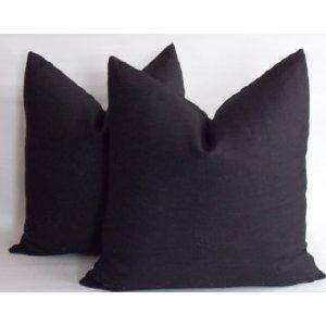Black Linen Pillow