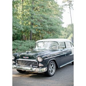 1955 Green and White Chevy Bel Air