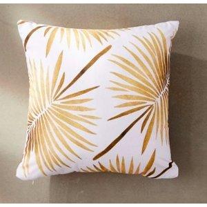 Gold Palm Pillow