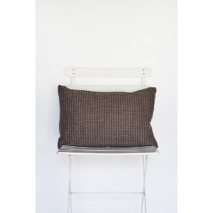 Brown Houndstooth Pillow