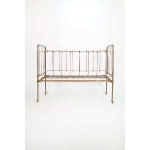 Bronze Iron Baby Bed