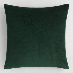 Forest Green Velvet Pillow