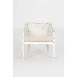 Shabby Wicker Back Chair