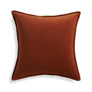 Rust Velvet Pillow