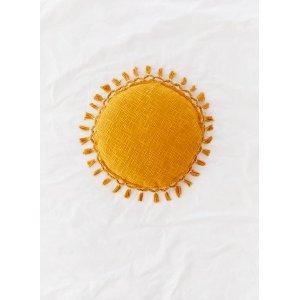 Mustard Tassle Pillow