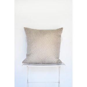 Blonde Chevron Weave Pillow