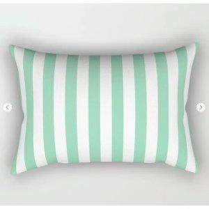 Mint Cabana Striped Pillow