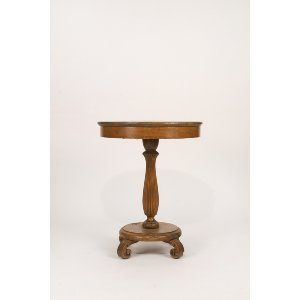 Tiger Oak Side Table