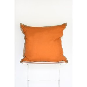 Orange Jute Trim Pillow