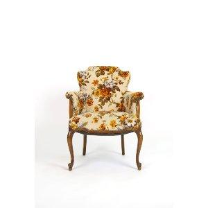 Orange Floral Sitting Chair