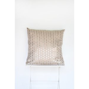 Gold Metallic Dot Pillow