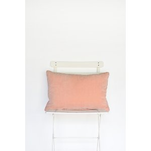 Blush Velvet Lumbar Pillow