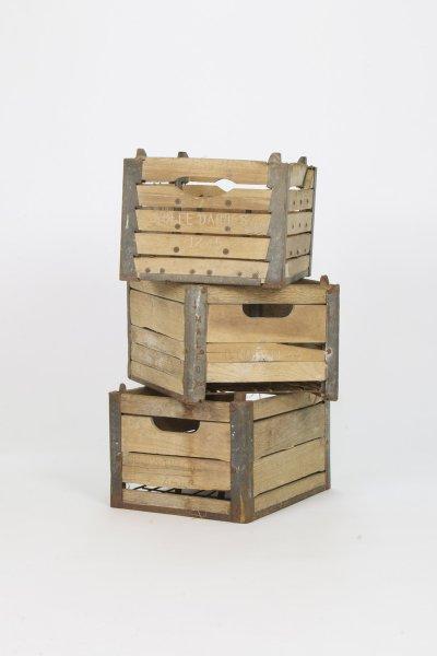 Wood Dairy Crates