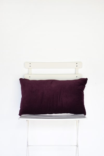 Plum Velvet Lumbar Pillow