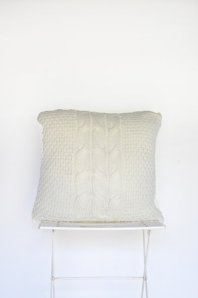 Ivory Sweater Pillow