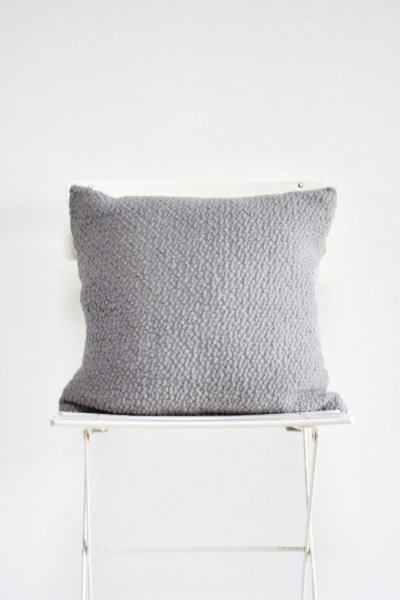 Grey Boucle Pillow