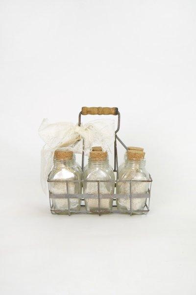 Milk Bottles & Carrier