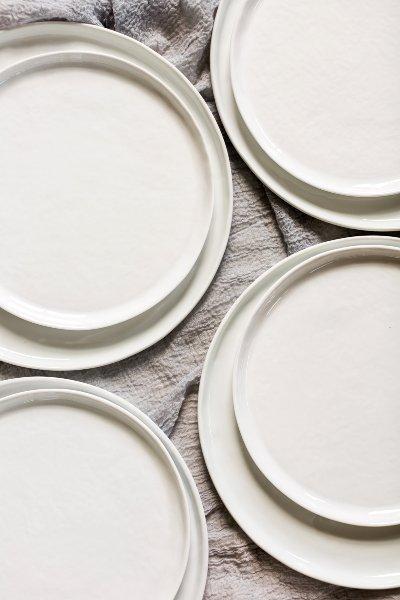 Organic Whiteware Bread+Butter Plate