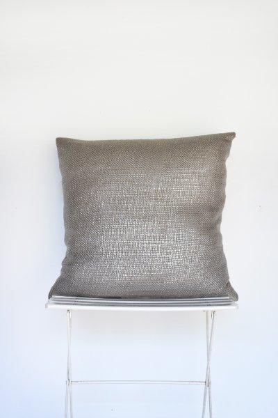 Silver Metallic Weave Pillow