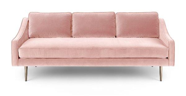 Blush Velvet Sofa