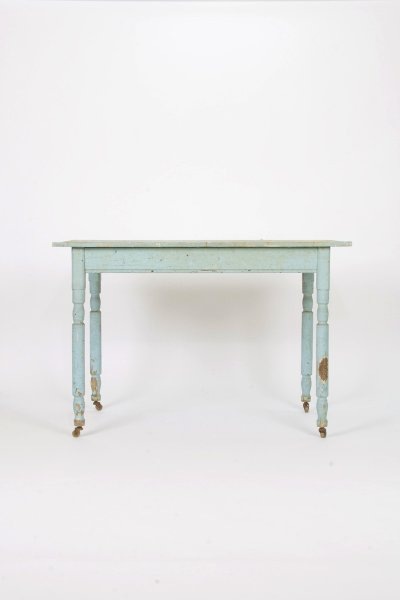 Turquoise Chippy Table
