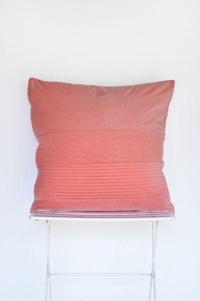Coral Velveteen Pillow