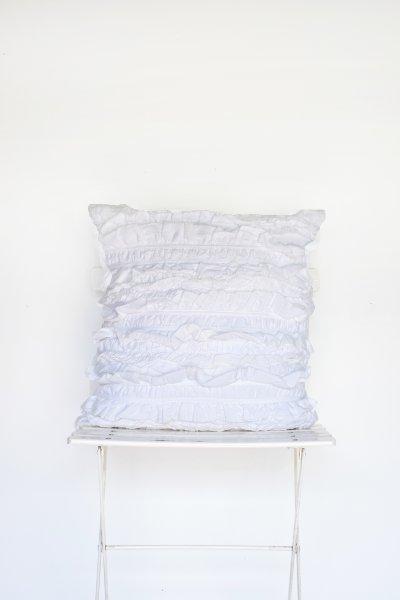 White Shabby Pillow