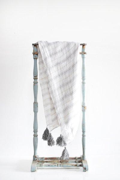 Striped Linen Throw