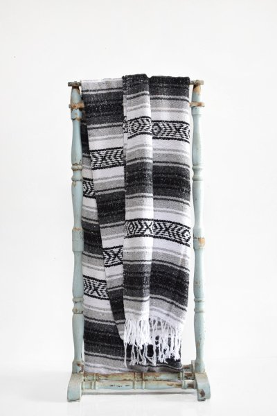 Black and White Aztec Throw