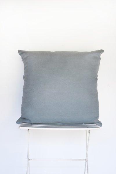 Soft Grey Blue Velvet Pillow (Oversized)