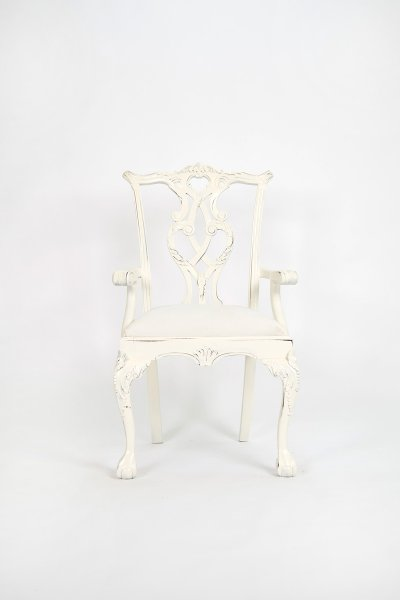 Shabby White Dining Chair