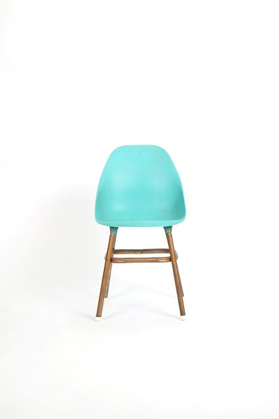 Teal Molded Plastic Chair