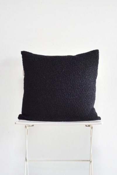 Black Boucle Pillow