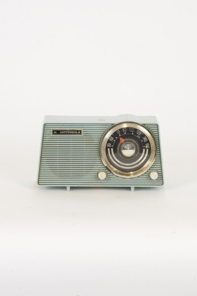 Light Blue Motorola Radio