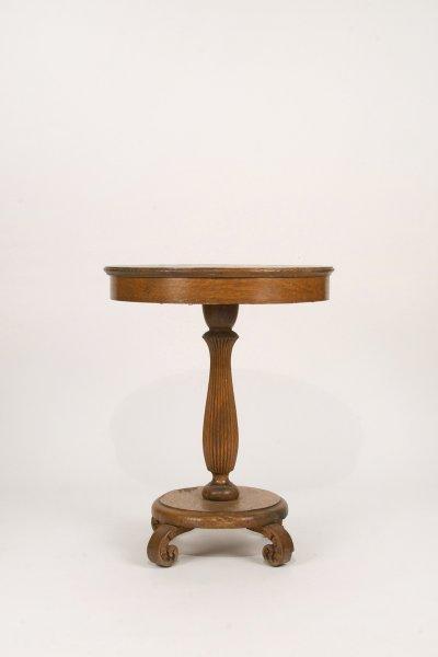 Tiger Oak Side Table